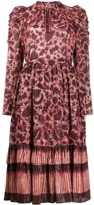 Ulla Johnson Nadia fitted midi dress
