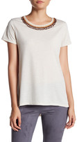 Romeo & Juliet Couture Short Sleeve Embellished Neck Tee