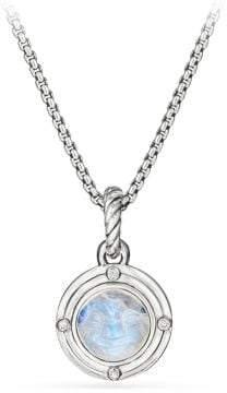 David Yurman Moon Amulet In Rainbow Moonstone With Diamonds