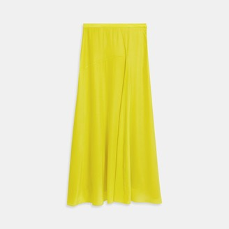 Theory Asymmetric Drape Skirt in Sandwashed Silk