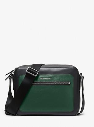 Michael Kors Hudson Two-Tone Leather Camera Bag