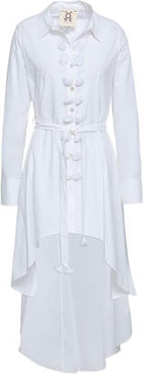 Figue Asymmetric Tassel-trimmed Cotton-poplin Shirt