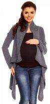Zeta Ville Womens Maternity Waterfall Knit Coat Wrap Monochrome Cardigan - 349c (, 8/12)
