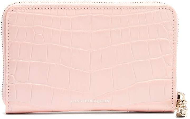 Alexander McQueen Zip-around continental leather wallet