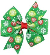 Gillberry Baby Girls Christmas Ornaments Bowknot Hairpin Headdress (G)