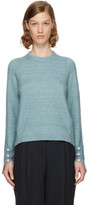 3.1 Phillip Lim Blue Pearl Cuff Sweater