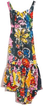 Marni Sleeveless Ruffle Skirt Dress in Lemmon Cay