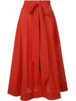 Lisa Marie Fernandez bow detail pleated skirt