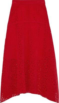 GOEN.J Brushed Leavers Lace Midi Skirt