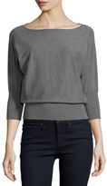 Milly Boat-Neck Dolman-Sleeve Blouson Pullover