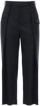 Noir Kei Ninomiya High Waist Wool Gabardine Pants