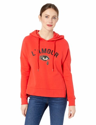 Betsey Johnson Women's L'Amour Drop Shoulder Hoodie