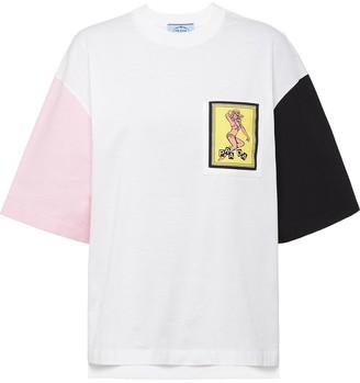 Prada motif-patch T-shirt
