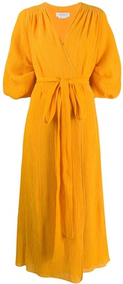 Gabriela Hearst Wrap Style Midi Dress