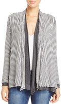 Three Dots Reversible Stripe Cardigan
