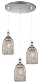 "Home Accessories Haydar 17.32"" 3-Light Indoor Pendant Lamp with Light Kit"