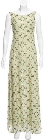 Collette Dinnigan Embroidered Maxi Dress