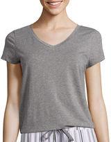 Liz Claiborne Short-Sleeve Knit Tee - Plus