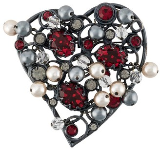 Yves Saint Laurent Pre Owned 1990s XL heart brooch