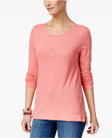 Style&Co. Style & Co High-Low Long-Sleeve T-Shirt, Only at Macy's