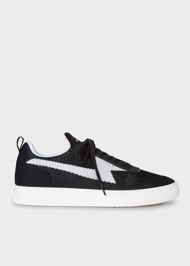 Paul Smith Men's Black 'Juno' Recycled Knit Sneakers