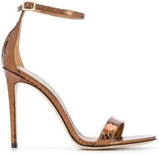 Paris Texas Crocodile-Effect 120mm Sandals