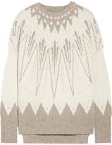 ADAM by Adam Lippes Intarsia Merino Wool And Cashmere-blend Sweater - Cream
