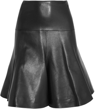 Alaia Fluted Leather Mini Skirt