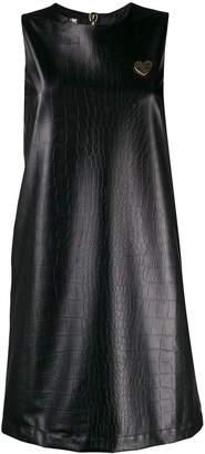 Love Moschino embossed shift dress