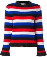 J.W.Anderson ruffle trim jumper - women - Polyamide/Polypropylene/Spandex/Elastane/Virgin Wool - S