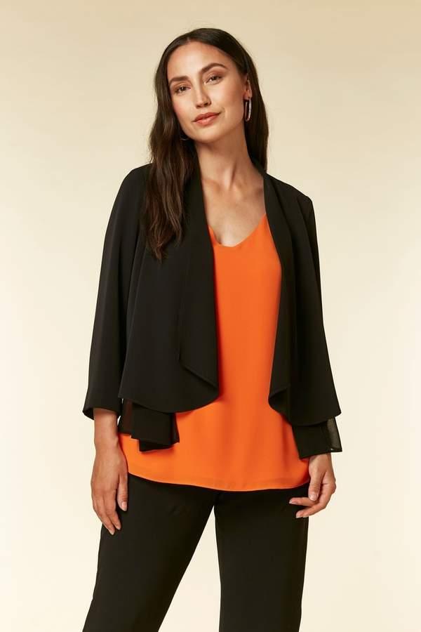 Size 8-18 Berry New Wallis Embellished Cuff Waterfall Blazer Jacket