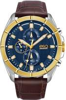 ESQ Swiss Men's Stainless Chronograph Watch, LeatherBand