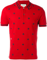 Gucci bee and star polo shirt - men - Cotton/Spandex/Elastane - M