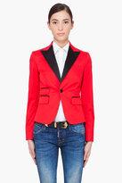 DSQUARED2 Red Smoking Blazer