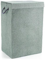 Minky Check Laundry Hamper - Grey
