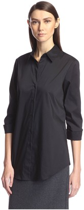 Society New York Women's Shirred Sleeve Shirt