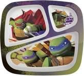 Zak Designs Zak! Designs 3-Section Plate - Teenage Mutant Ninja Turtle - Break-resistant and BPA-Free (Pack of 6)