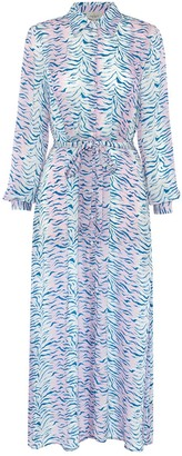Primrose Park London Josie Dress In Pink Tiger