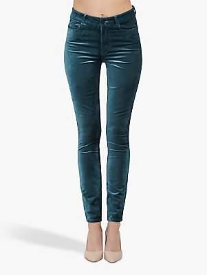 Paige Hoxton Velvet Ultra Skinny Jeans, Atlantic Navy