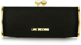 Love Moschino Black and Gold Velvet Clutch