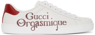 Gucci White Orgasmique New Ace Sneakers