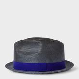 Paul Smith Men's Slate Blue Woven Trilby Hat