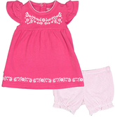 Kushies Fuchsia I Love Spring Dress & Bloomers - Infant
