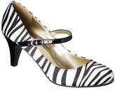 Merona Women's Erin Mary Jane Pump - Zebra