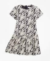 Brooks Brothers Knit Floral Jacquard Dress