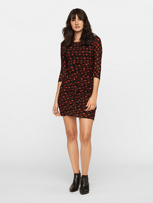Diane von Furstenberg Ruched Mesh Mini Dress