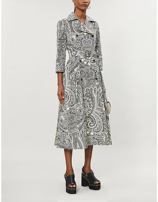 Max Mara Addobbo paisley-print cotton-poplin midi dress