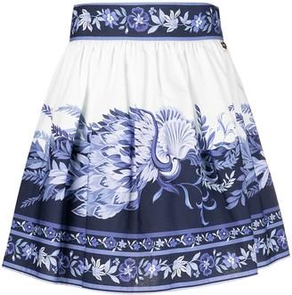 Twin-Set Floral-Print Skirt