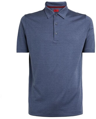 Isaia Silk-Cotton Polo Shirt