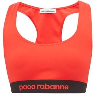 Paco Rabanne Logo-jacquard Racerback Sports Bra - Womens - Red